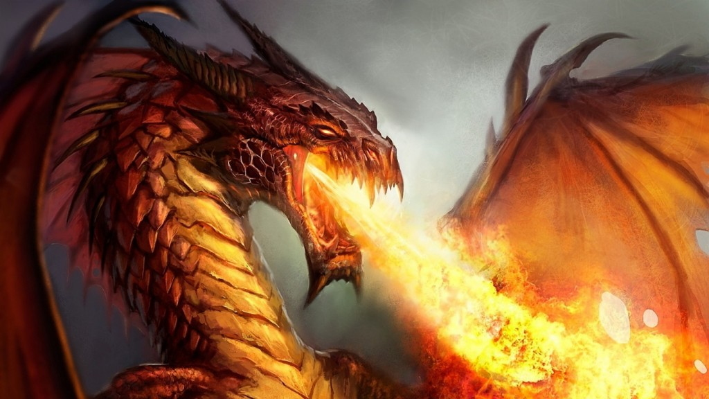 Fire Dragon Wallpaper HD 1366x768 1