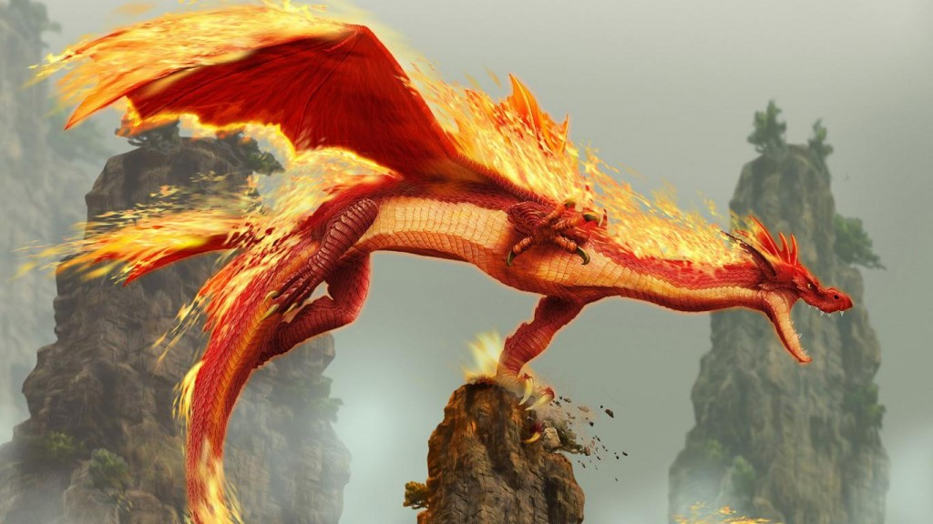 Fire Dragon Wallpaper HD 1366x768 3