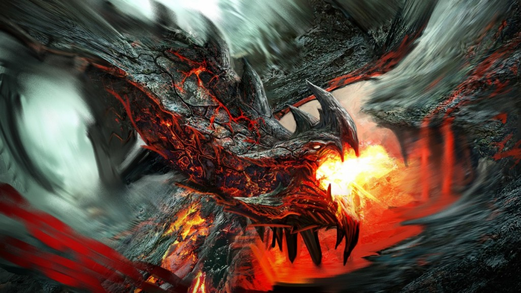 Fire Dragon Wallpaper HD 1366x768 8