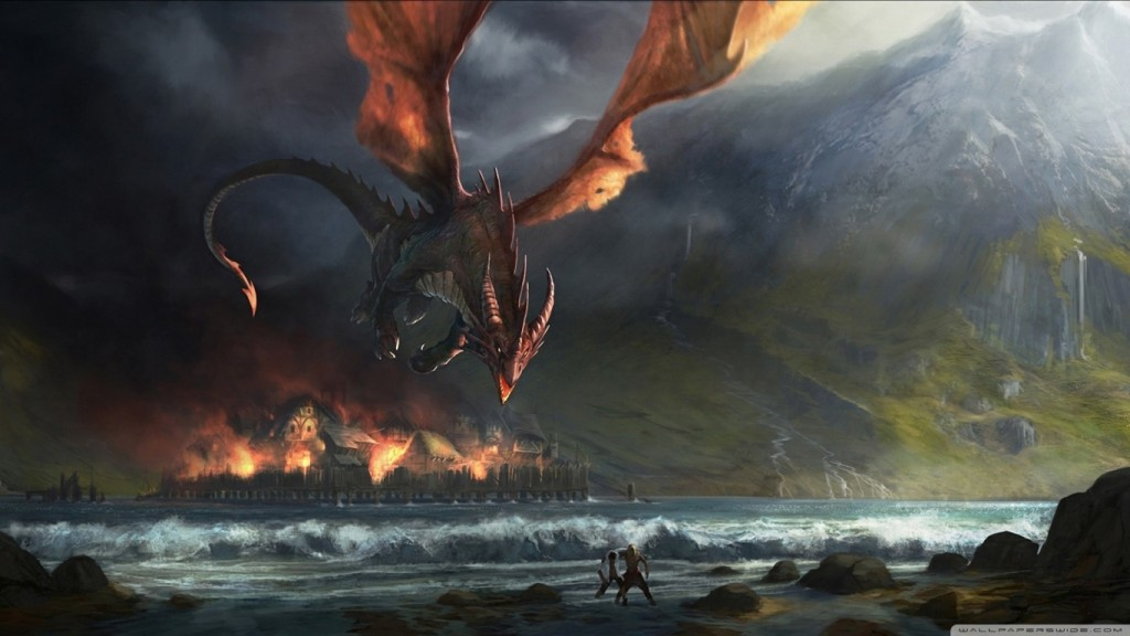 Fire Dragon Wallpaper HD 1366x768 9