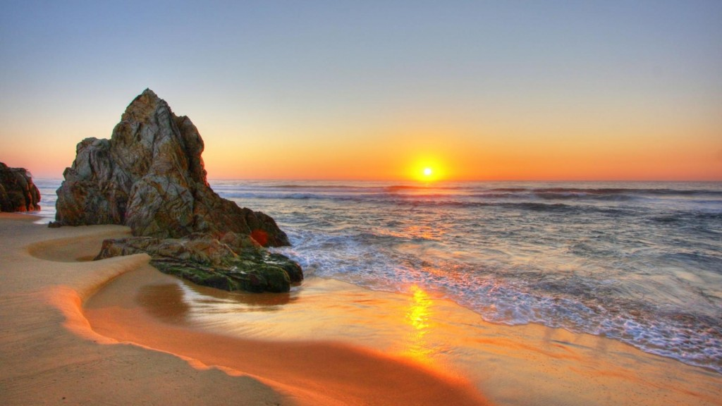 Sunset Beach Wallpaper HD 1920x1080 1