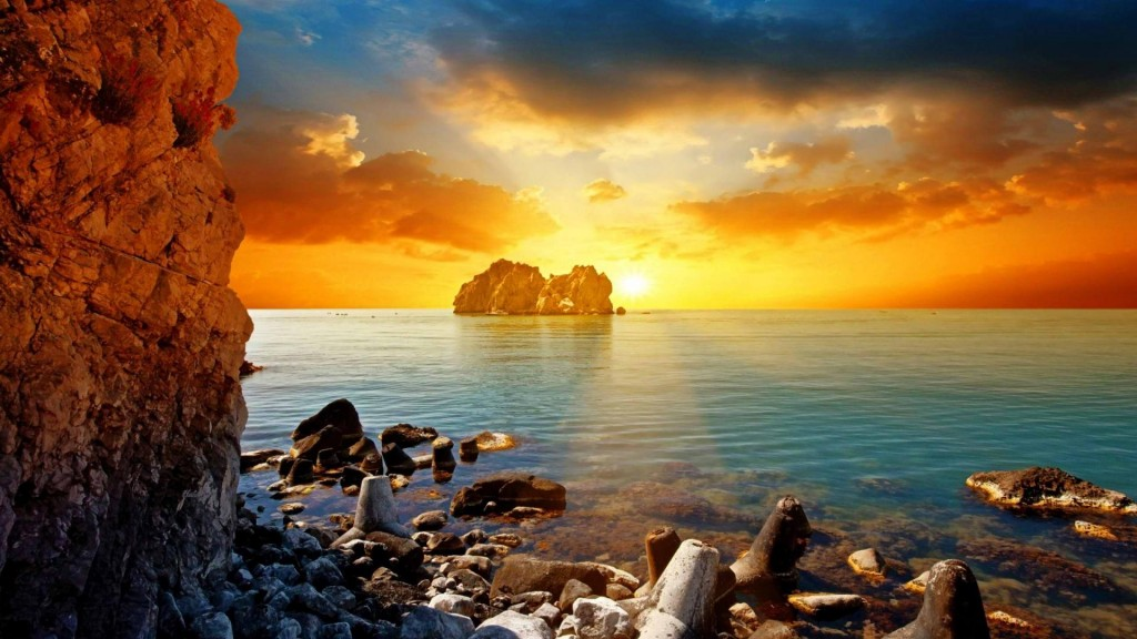 Sunset Beach Wallpaper HD 1920x1080 2