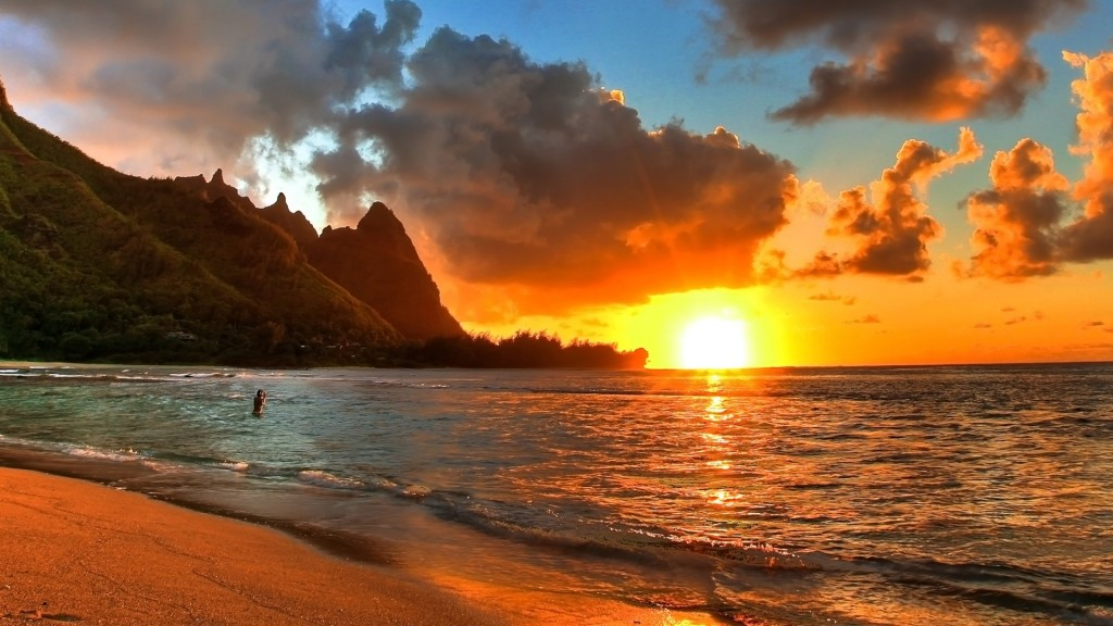 Sunset Beach Wallpaper HD 1920x1080 4