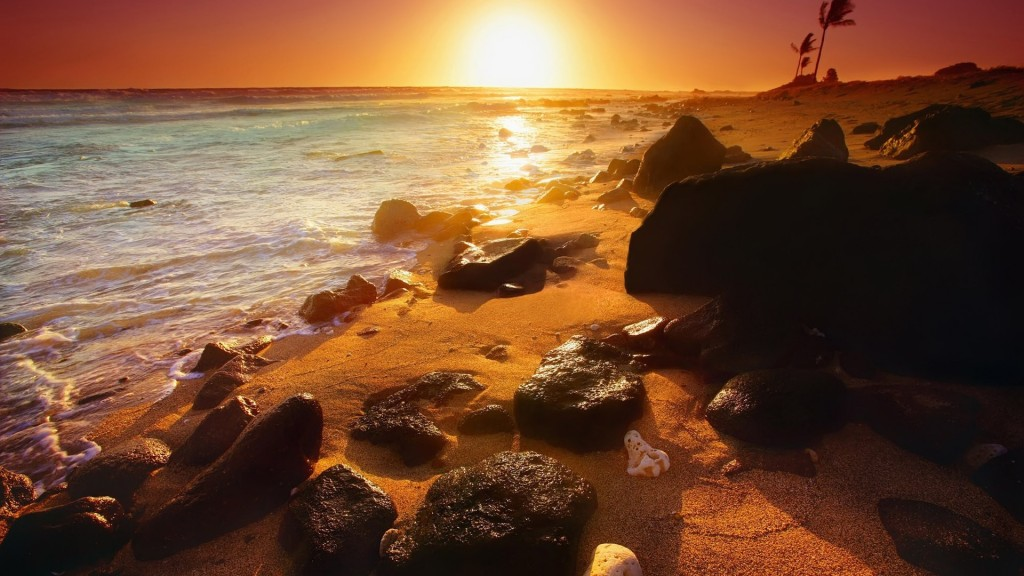 Sunset Beach Wallpaper HD 1920x1080 6