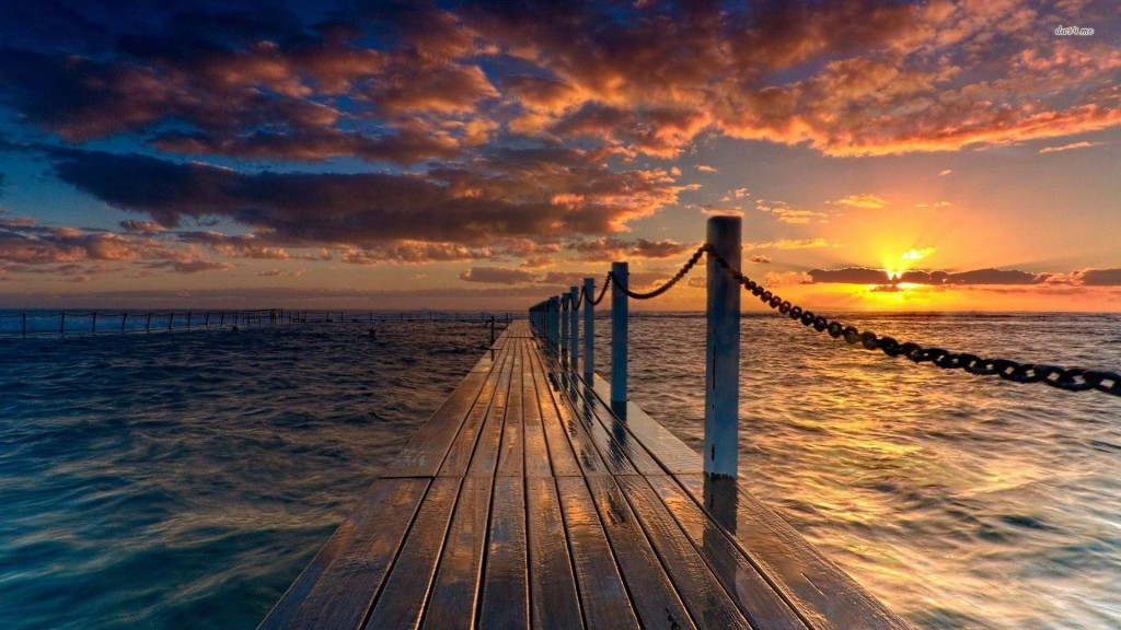 Sunset Beach Wallpaper HD 1920x1080 7