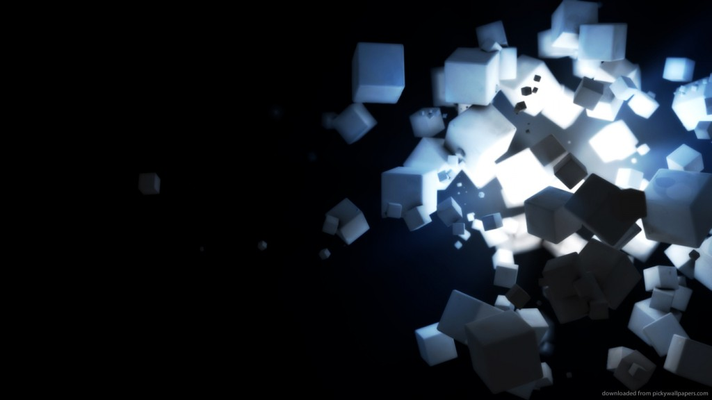 3d wallpaper 3d-cubes-rendering-with-source-of-light