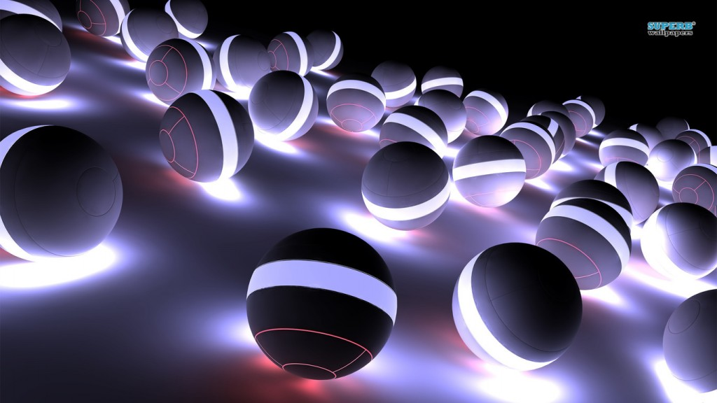 3d wallpaper spheres-4377-1366x768