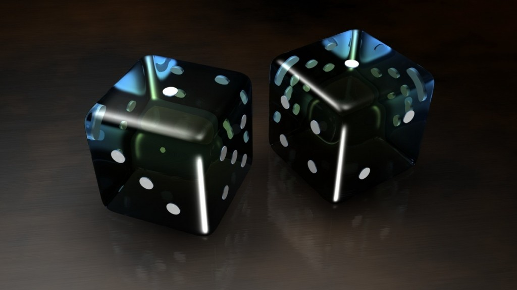 3d wallpaper ws_Black_3D_Dice_1366x768