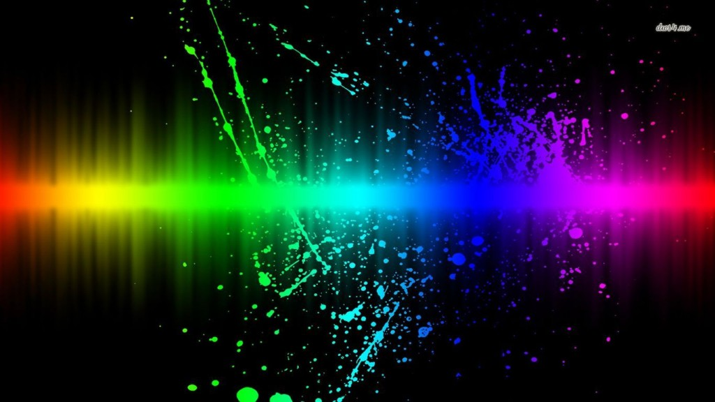 Amazing Abstract Wallpaper HD 5250-rainbow-splash-1366x768-abstract-wallpaper