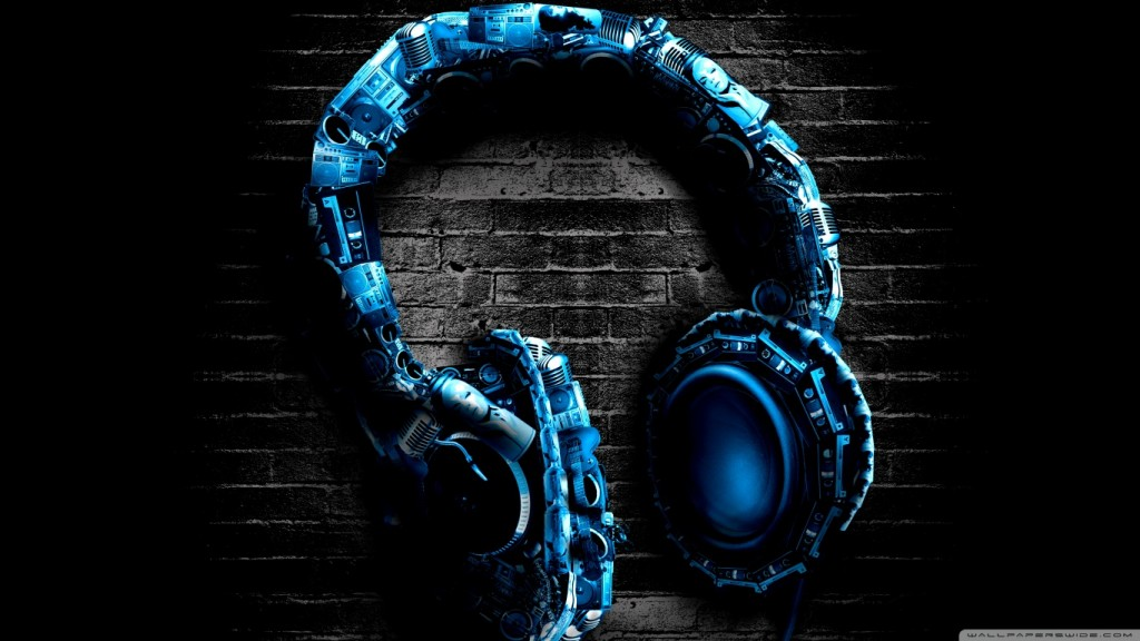 Amazing Abstract Wallpaper HD abstract_headphones-wallpaper-1366x768