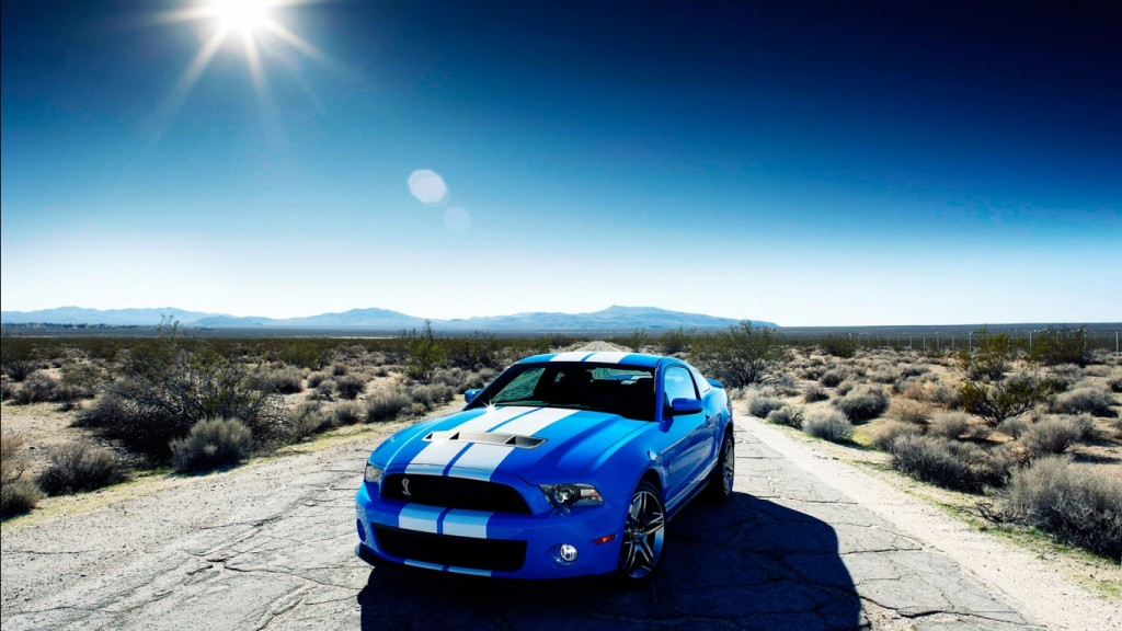 Kereta Desktop Wallpaper HD ford_shelby_gt500_car-1366x768