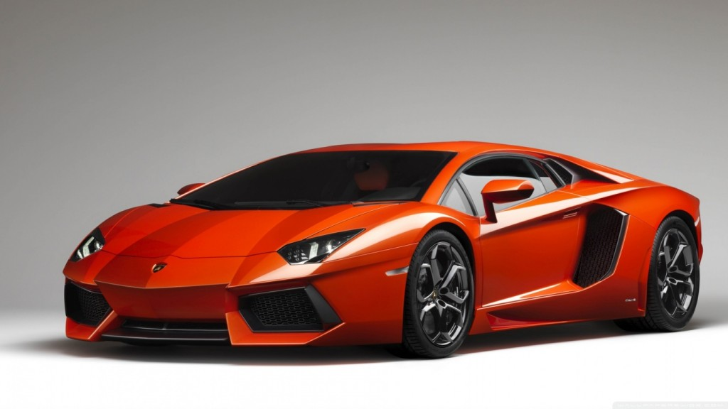 Car Fond d'écran HD orange_lamborghini_aventador-wallpaper-1366x768
