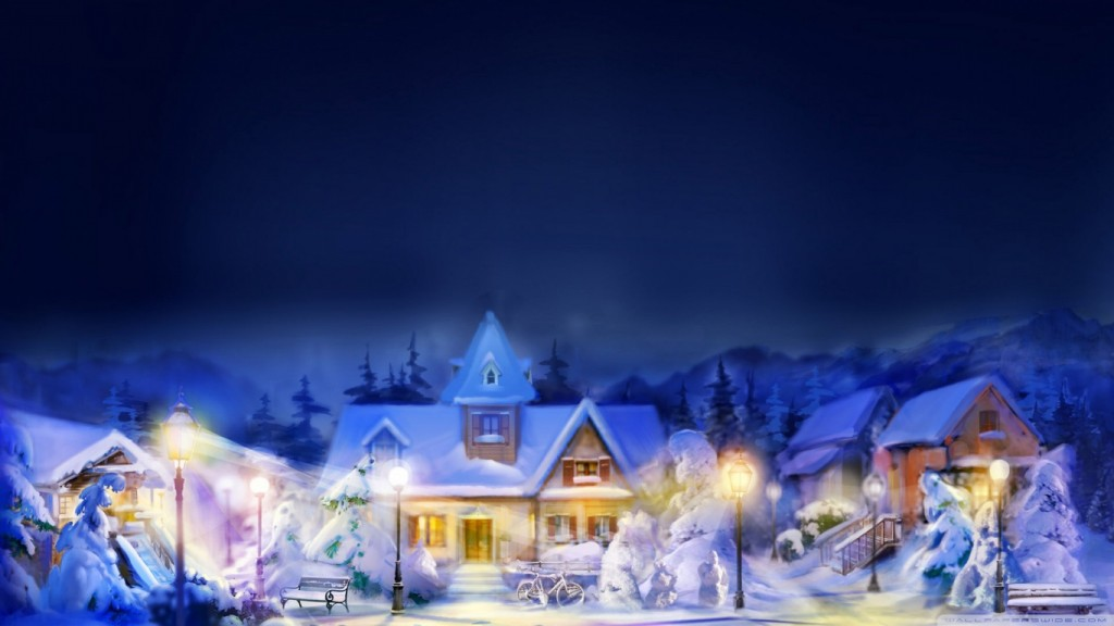 Christmas Wallpaper christmas_town_scene-wallpaper-1366x768