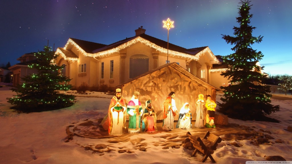 Christmas Wallpaper outdoor_christmas_nativity_scene-wallpaper-1366x768