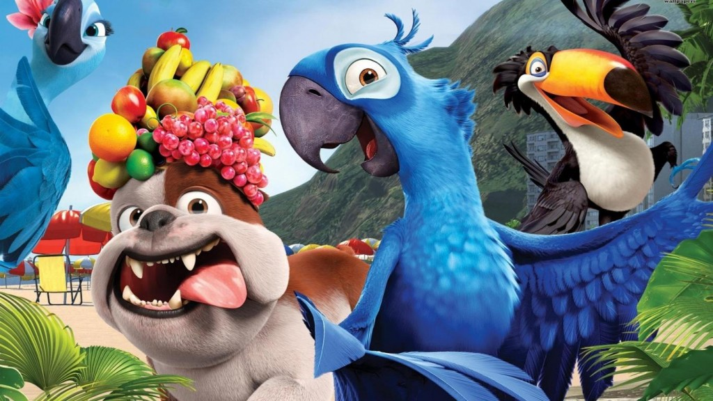 Desktop Cartoons HD Wallpapers cartoon-movies-rio-parrot-blue-celebrity-and-movie-pictures-806777