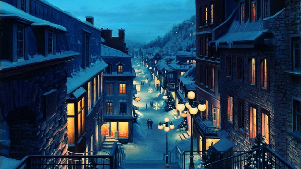 Desktop Winter Wallpaper HD 1366x768-wallpaper-winter-town-
