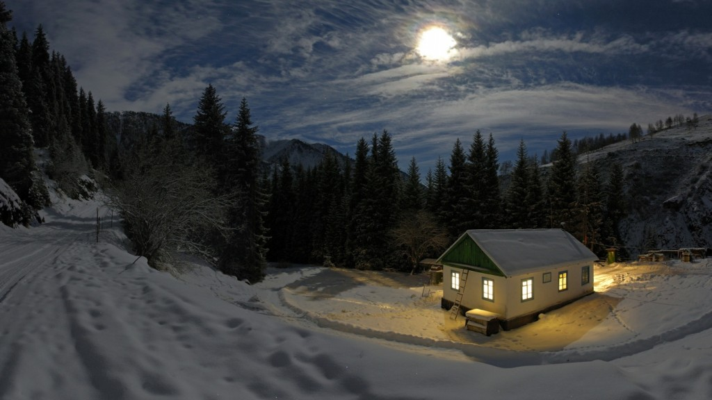 Desktop Winter Taustakuva HD House-in-Winter-1366x768