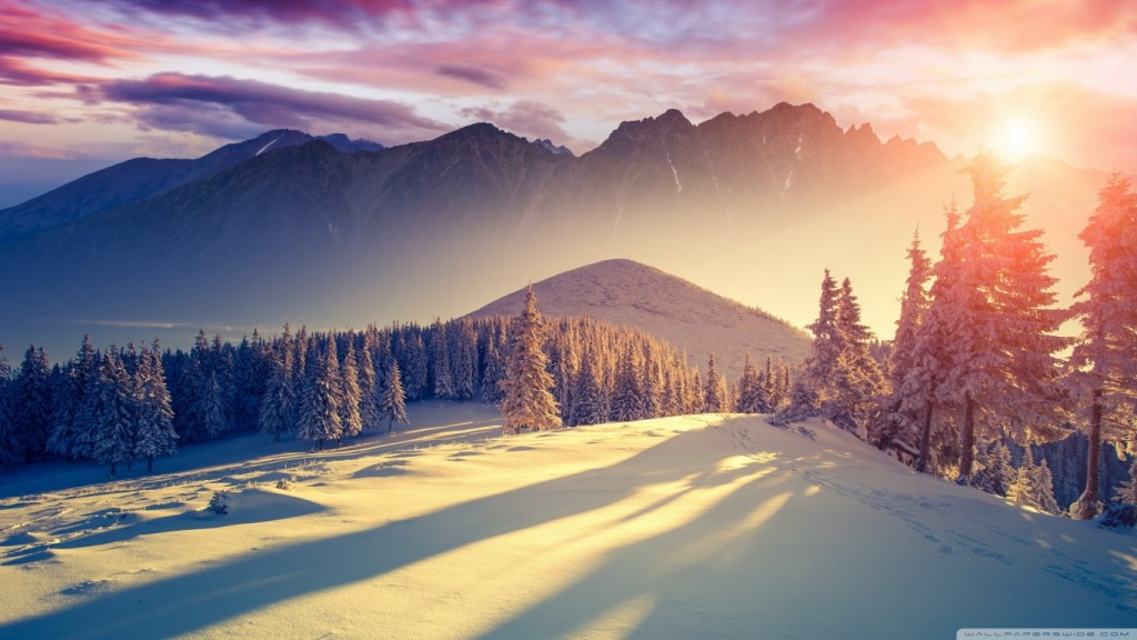 winter wallpaper sunset_winter_shadows-wallpaper-1366x768