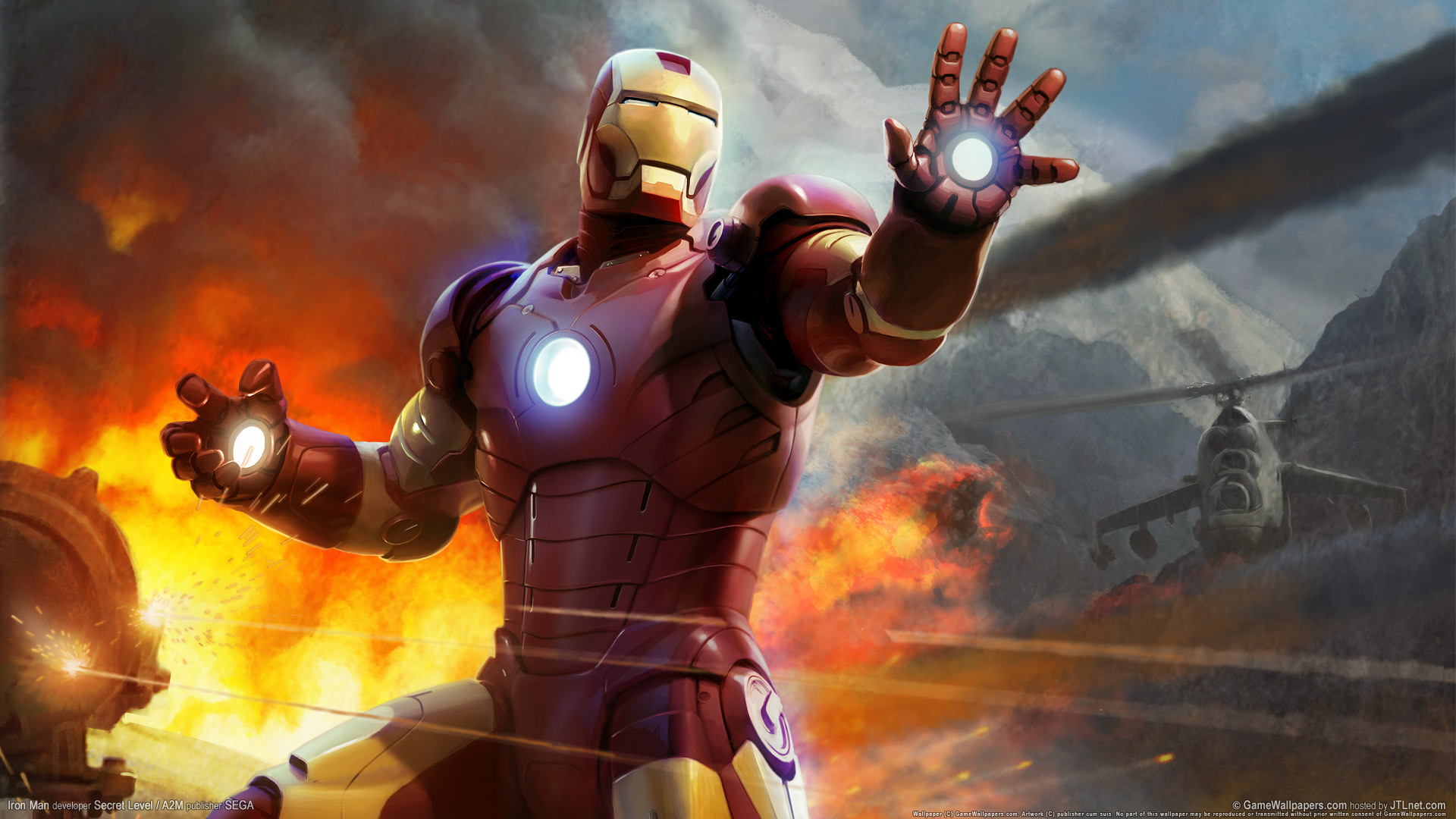 Iron Man Wallpapers Full Hd Desktop Background: Bureau Iron Man Wallpaper HD