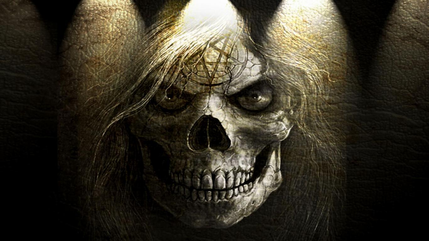 Skull horror wallpapers hd - Scary skull backgrounds ...
