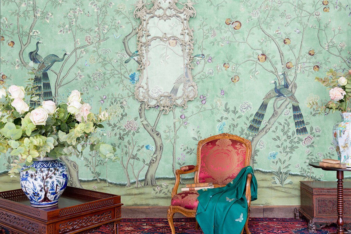 Chinoiserie wallpaper - 4 murs papiers peints ...