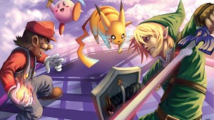 Super smash bros kertas dinding HD