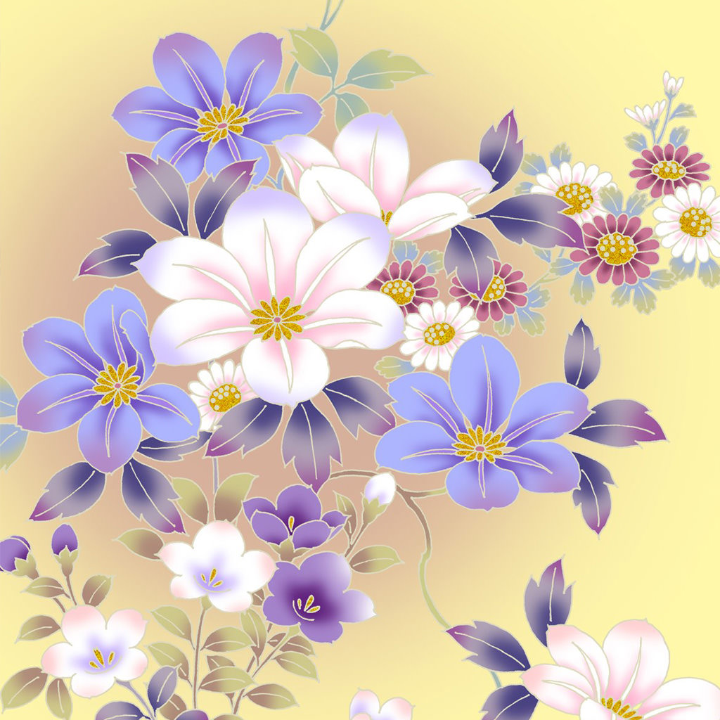 Vintage flower wallpaper1