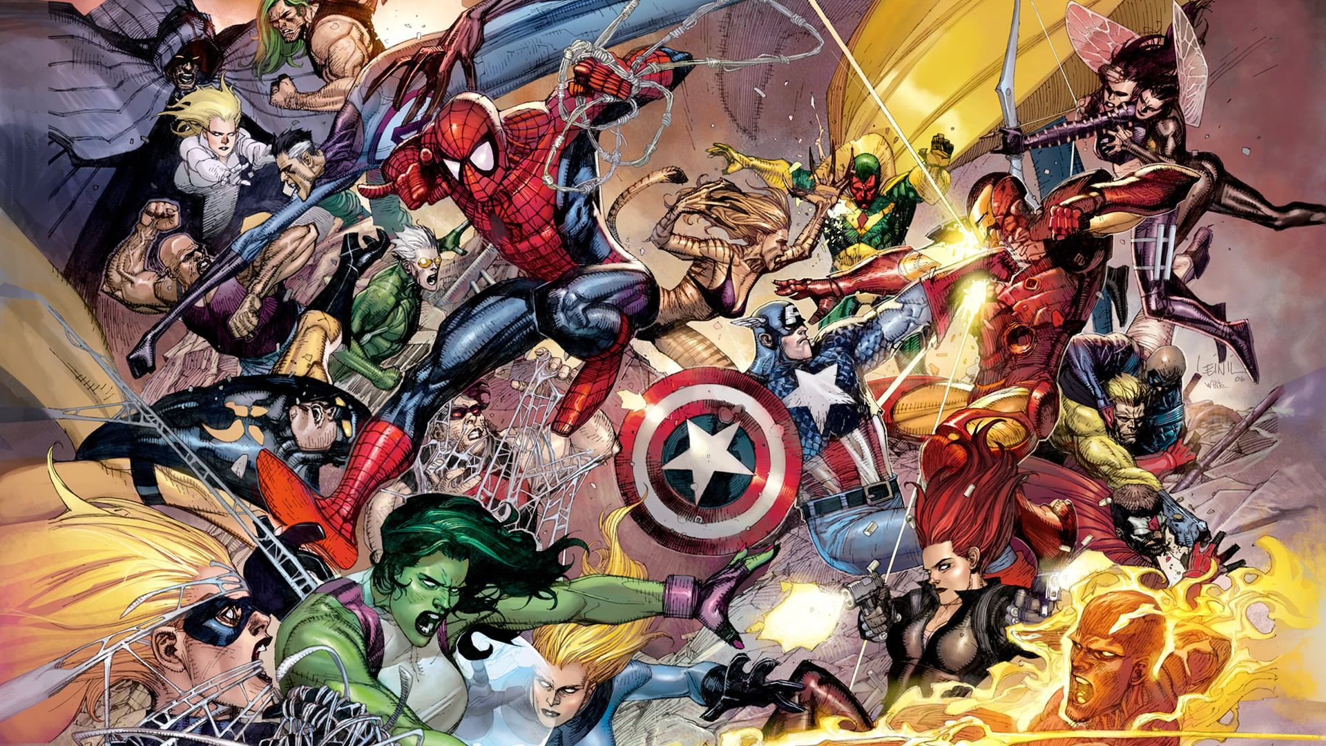 wohnzimmerz: comic tapete with marvel comics and avengers wallpaper