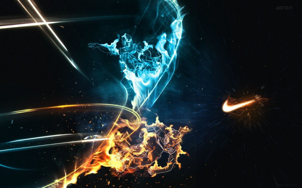 nike logo wallpaper fire flame