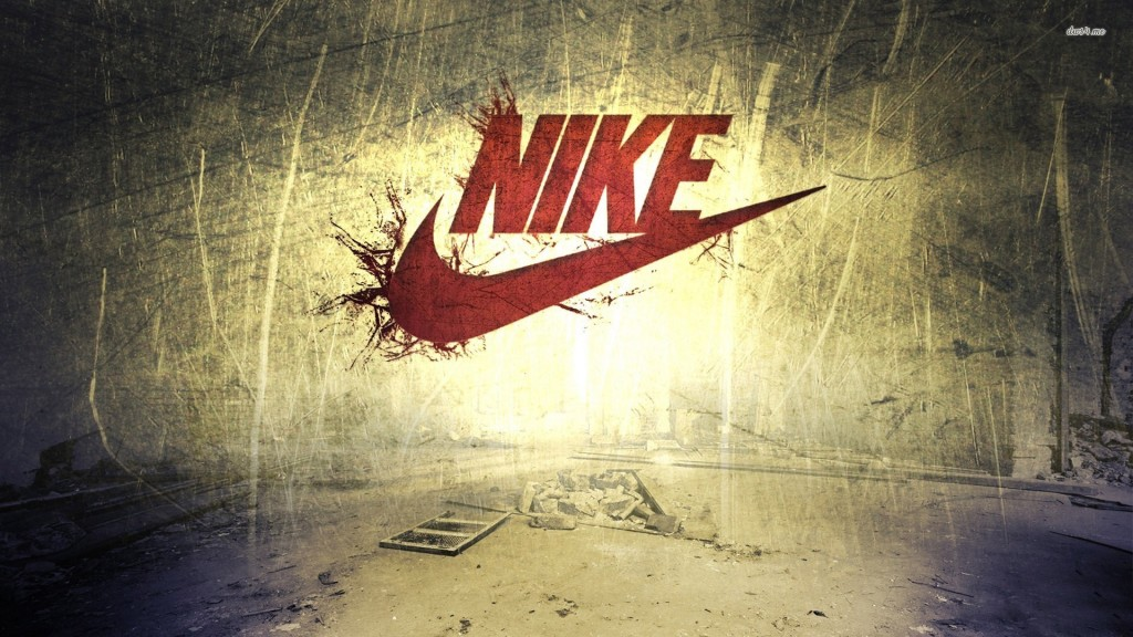nike logo wallpaper golden background