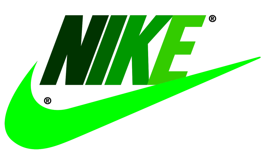 nike logo wallpaper hd in green