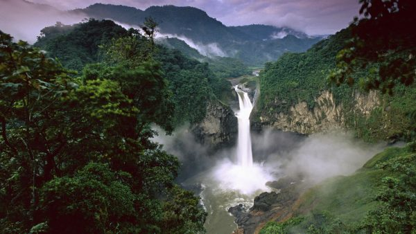 SAN RAFAEL OR COCA FALLS ON THE RIVER QUIJOS, AMAZON, ECUADOR