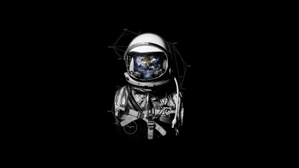astronaut behang HD2