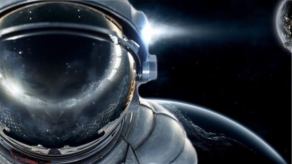 astronaut behang HD4