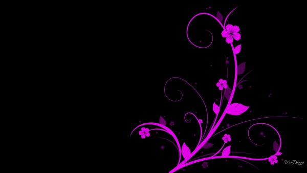 black and pink wallpaper HD1