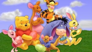 pooh behang HD