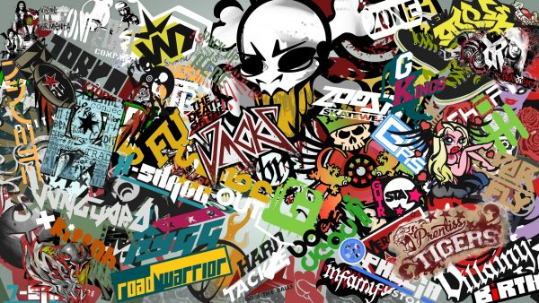 sticker bomb wallpaper HD2