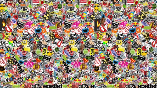 sticker bomb wallpaper HD5