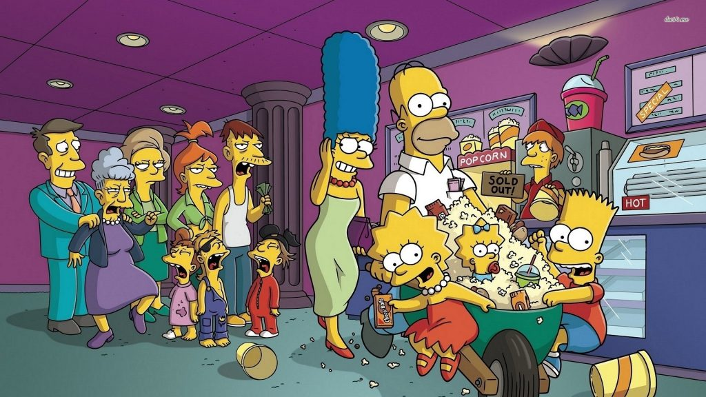 The Simpsons tapet HD5