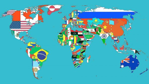 Countries flags maps world map wallpaper 1920x1200.