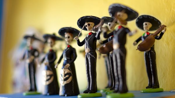 Mexico --- Day of the Dead statuettes --- Image by © Inti St Clair/Blend Images/Corbis