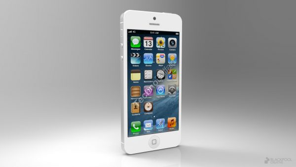 Rendering of the forthcoming iPhone 5 based on leaked parts.