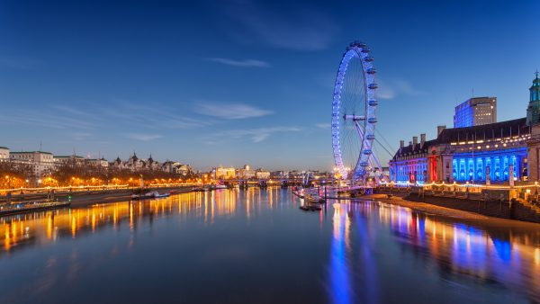 London Eye di Twilight