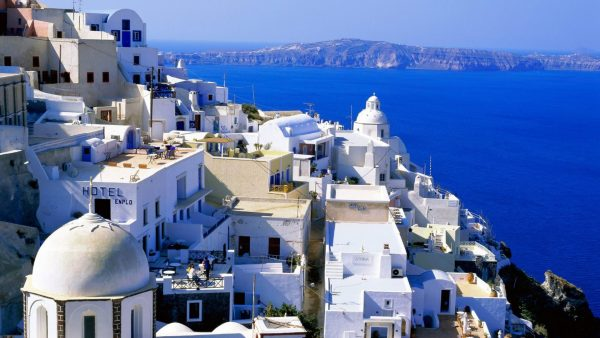santorini wallpaper HD1