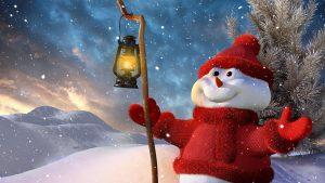 papel de parede do boneco de neve