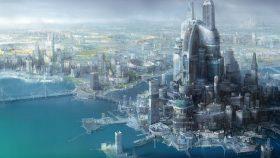 future city wallpaper HD