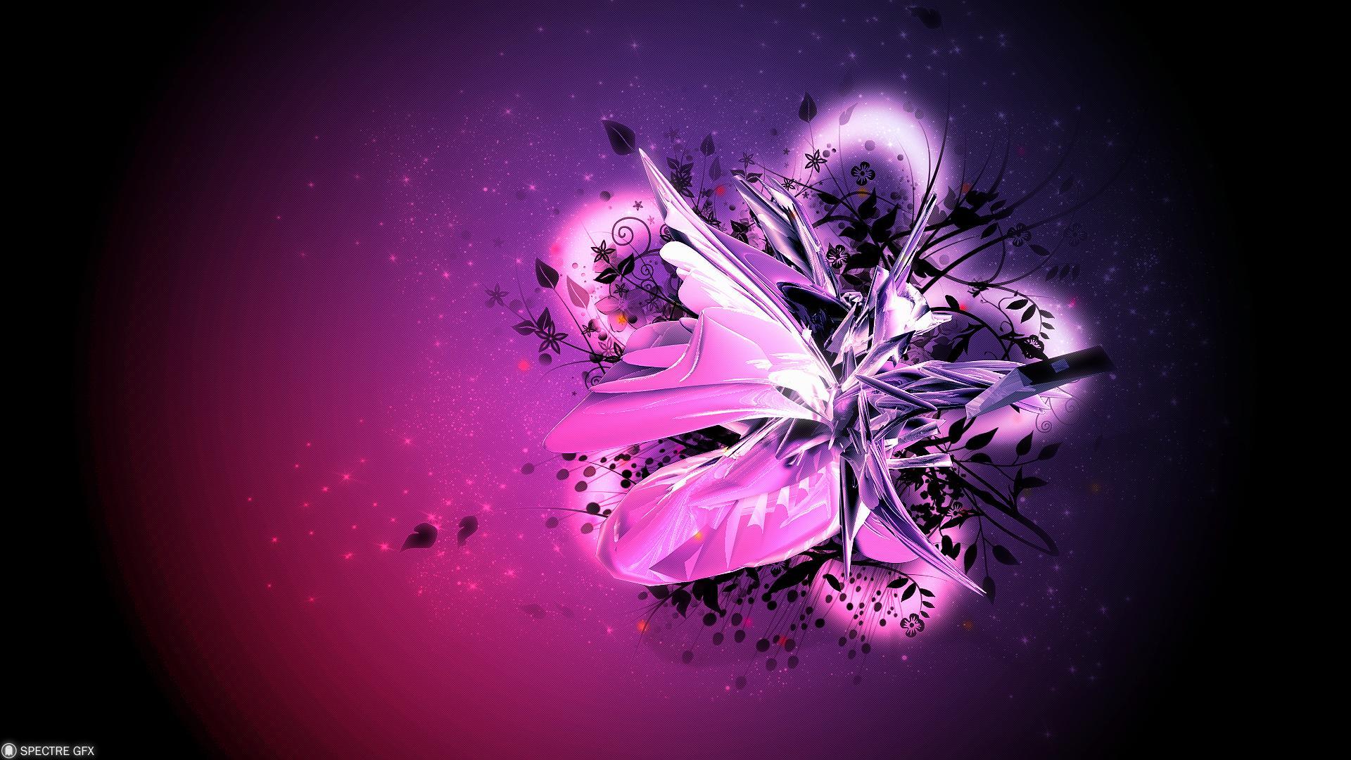Best Love Fond Ecran Hd: Violet Et Rose Fond D'écran HD