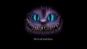 cheshire katt tapet