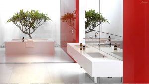 bathroom wallpaper designs