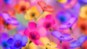 flowered wallpaper